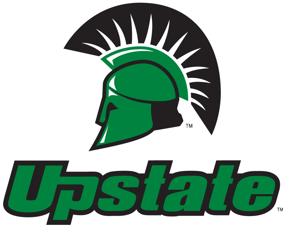 USC Upstate Spartans Logo Secondary Logo (2021-Pres) - In April 2021, USC Upstate refreshed their brand with several changes. First most, green was changed from Pantone 349C to 348C. The Spartan helmet remains as the secondary mark, but to increase brand recognition outside the region, the helmet must be locked up with the Upstate wordmark. SportsLogos.Net