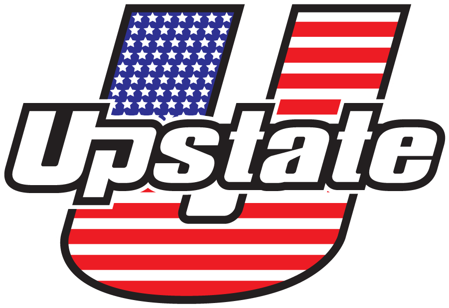 USC Upstate Spartans Logo Special Event Logo (2021-Pres) - Red, White, and Blue mark. The patriotic U-Upstate is used during special occasions throughout the year including Memorial Day, Veterans Day and Independence Day. SportsLogos.Net