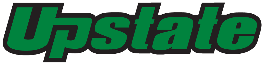USC Upstate Spartans Logo Wordmark Logo (2021-Pres) - In April 2021, USC Upstate changed the green from Pantone 349C to 348C. SportsLogos.Net
