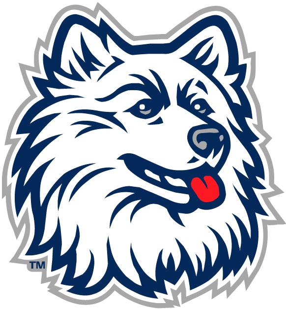 UConn Huskies Logo Primary Logo (1996-2012) - White Huskie head.   SportsLogos.Net