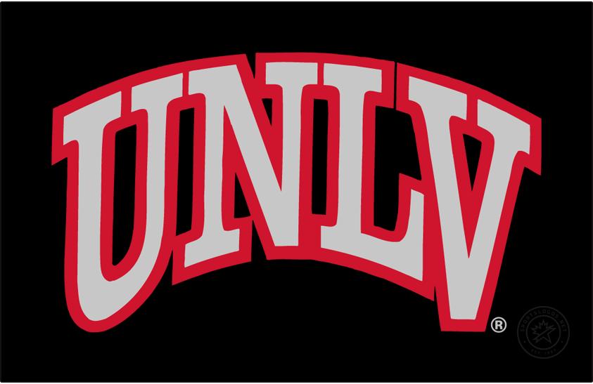 UNLV Rebels Logo Alt on Dark Logo (2018-Pres) - Arch UNLV on black background. SportsLogos.Net