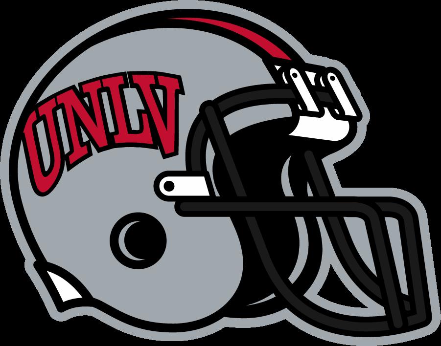 UNLV Rebels Helmet Helmet (2006-2009) - Helmet with arch UNLV in Pantone 200C. SportsLogos.Net