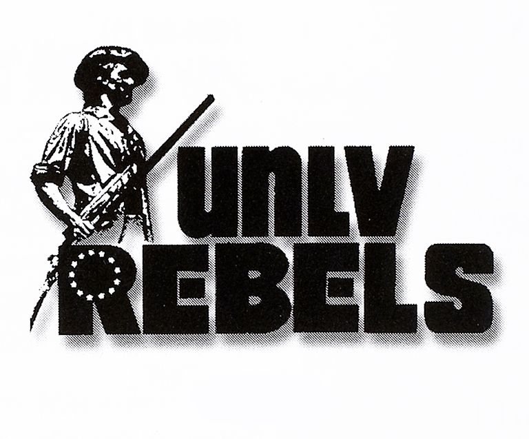 UNLV Rebels Logo Primary Logo (1975-1977) - Colonial Soldier with UNLV Rebels, used during the Bicentennial. SportsLogos.Net