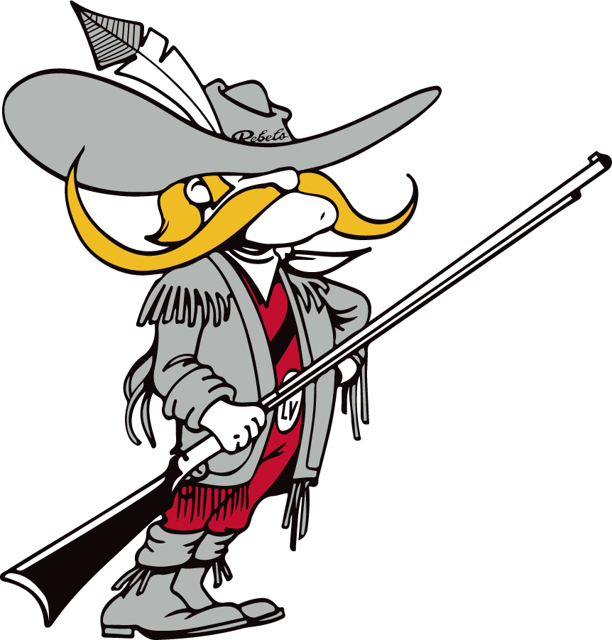 UNLV Rebels Logo Primary Logo (1983-1997) - HeyReb! with rifle. May not be the official version. SportsLogos.Net