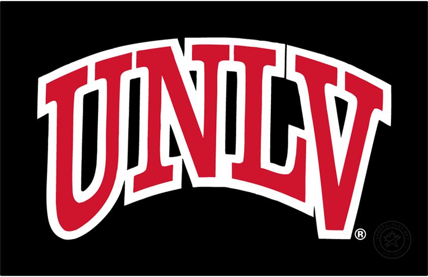 UNLV Rebels Logo Primary Dark Logo (2018-Pres) - Arch UNLV on black background. SportsLogos.Net