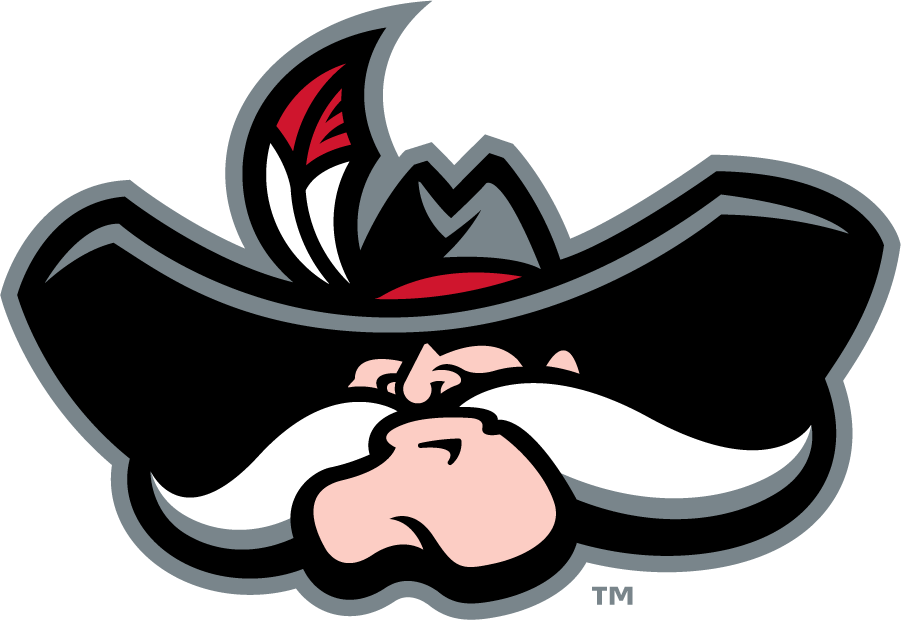 UNLV Rebels Logo Secondary Logo (2009-2017) - HeyReb! with Pantone 186C. SportsLogos.Net