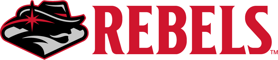 """UNLV Rebels Logo Secondary Logo (2017-2018) - In June 2017, UNLV unveiled a refreshed spirit mark including the representation of the famous """"Welcome to Fabulous Las Vegas"""" sign, an exchange Hey Reb!'s feather with a star design synonymous with Las Vegas, and stylized mountains to further tie the mark to the Southern Nevada region. SportsLogos.Net"""