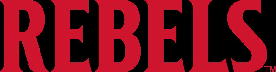 UNLV Rebels Logo Wordmark Logo (2017-2018) - Straight REBELS SportsLogos.Net