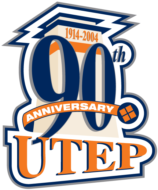 UTEP Miners Logo Anniversary Logo (2004) - UTEP 90th Anniversary logo SportsLogos.Net