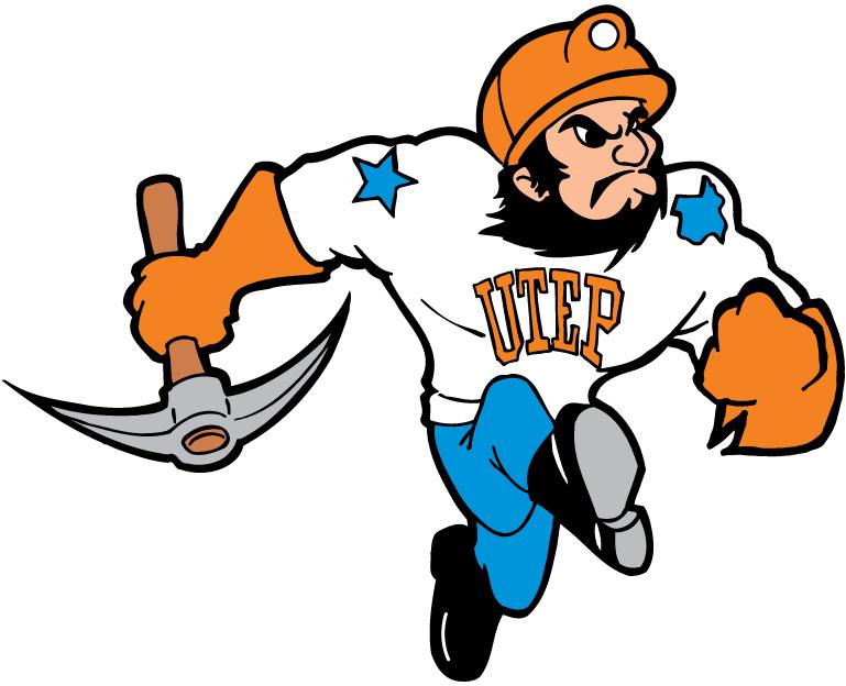 UTEP Miners Logo Mascot Logo (1992-2003) - UTEP Miners mascot - Paydirt Pete SportsLogos.Net