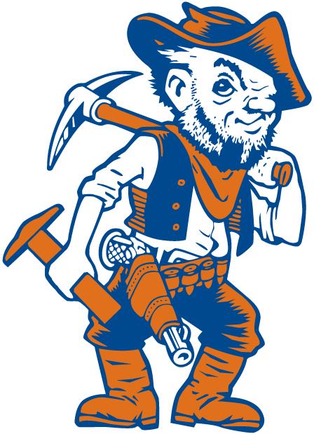UTEP Miners Logo Mascot Logo (1991) - Vintage UTEP Miners mascot logo - Paydirt Pete SportsLogos.Net
