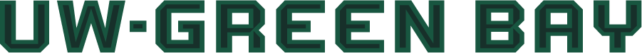 Wisconsin-Green Bay Phoenix Logo Wordmark Logo (2018-Pres) - On July 25, 2018, the Green Bay athletics department rolled out a new GB logo, colors, and wordmarks for a new, clean and more consistent look as part of an overall athletics rebranding effort. SportsLogos.Net