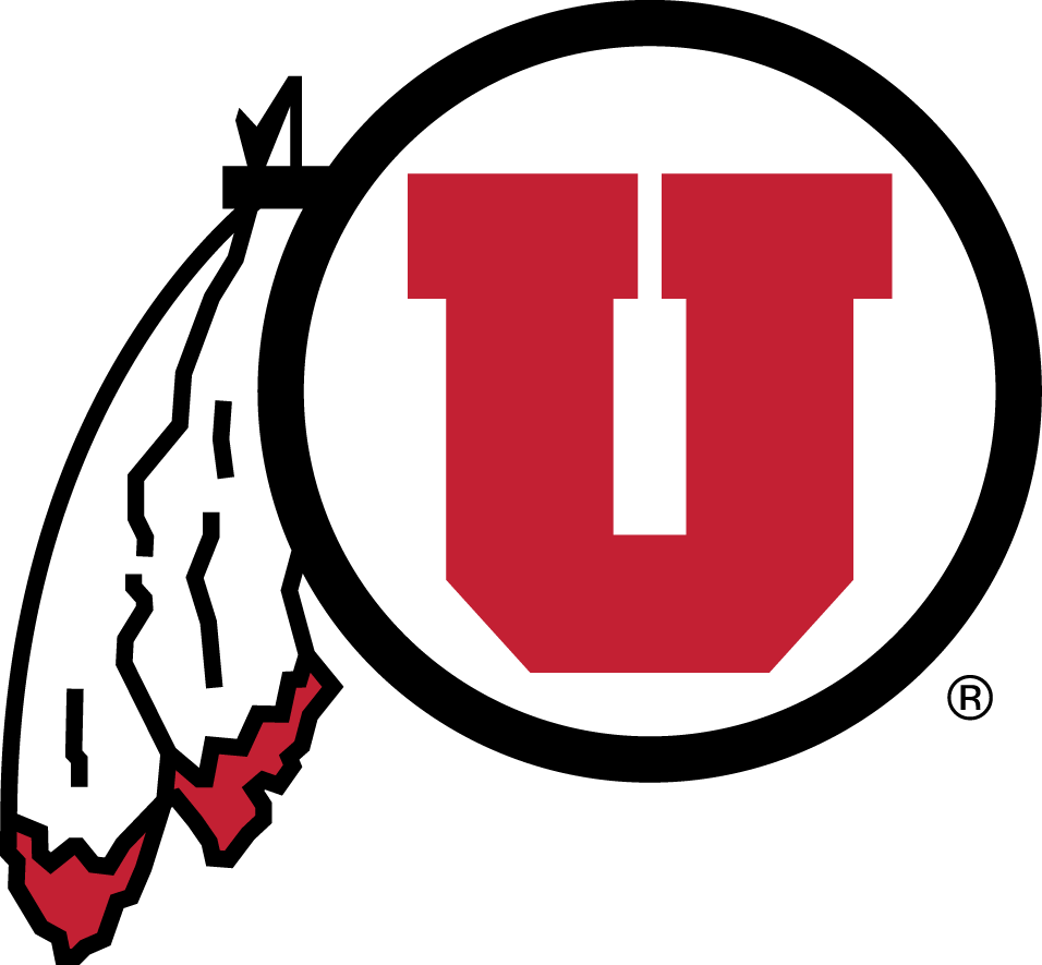 Utah Utes Logo Primary Logo (2001-Pres) - Red U in a circle with two feathers SportsLogos.Net