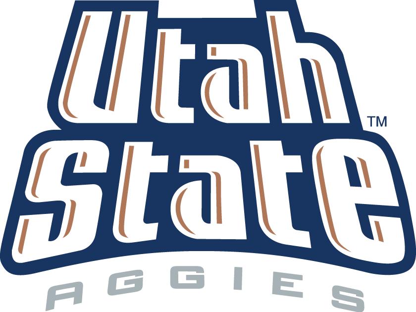 Utah State Aggies Logo Wordmark Logo (1996-2011) -  SportsLogos.Net