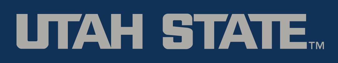 Utah State Aggies Logo Wordmark Logo (2012-Pres) -  SportsLogos.Net