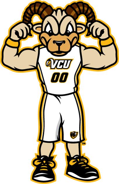 Virginia Commonwealth Rams Logo Mascot Logo (2014-Pres) - Rodney The Ram SportsLogos.Net