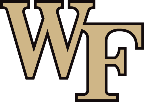 Wake Forest Demon Deacons Logo Primary Logo (2019-Pres) - WF in gold and black, shade of gold lightened for 2019 SportsLogos.Net