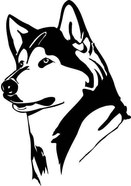 Washington Huskies Logo Partial Logo (1995-2000) - Head of a husky SportsLogos.Net