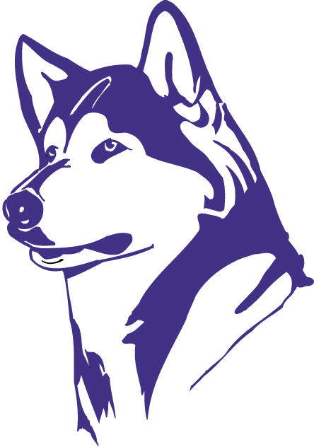 Washington Huskies Logo Partial Logo (1995-2000) - Purple Husky's head SportsLogos.Net