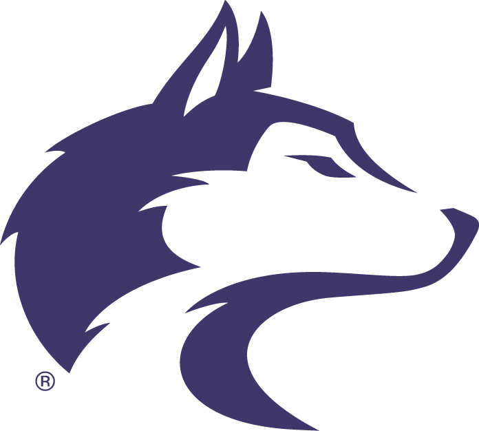 Washington Huskies Logo Primary Logo (2001-2006) - Purple Husky's head sideview SportsLogos.Net