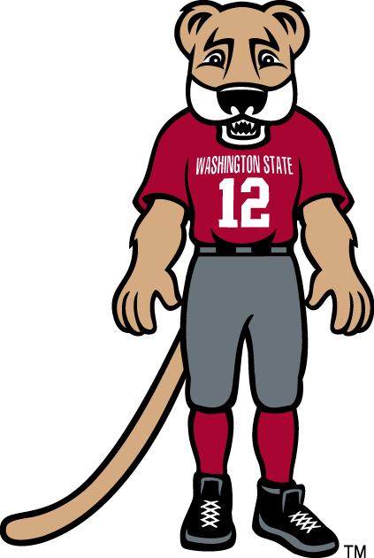 Washington State Cougars Logo Mascot Logo (2003-Pres) - Butch T. Cougar mascot logo SportsLogos.Net