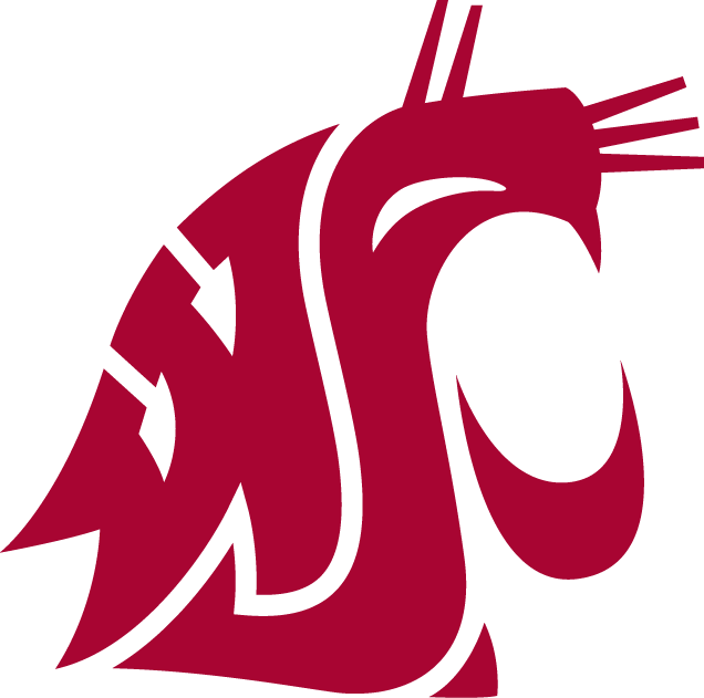 Washington State Cougars Logo Primary Logo (1995-Pres) - Red WSU forming Cougars head SportsLogos.Net