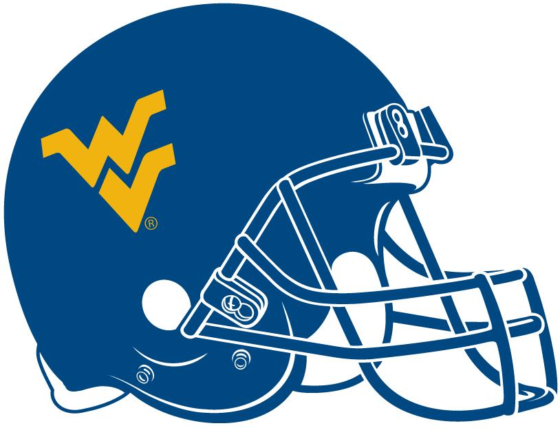 West Virginia Mountaineers Helmet Helmet (1980-Pres) - Yellow