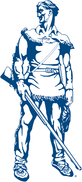 West Virginia Mountaineers Logo Mascot Logo (2000-2001) - WVU mascot - The Mountaineer in blue SportsLogos.Net
