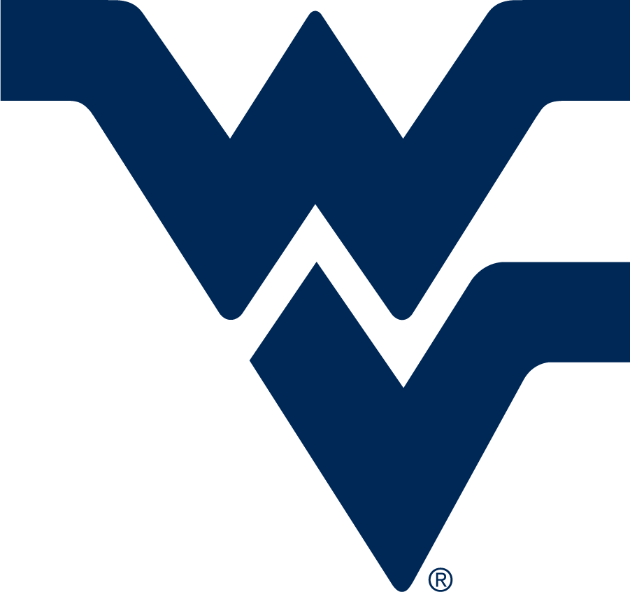 West Virginia Mountaineers Logo Alternate Logo (1980-2016) - Designed by sports artist John Martin, The Flying WV is the most widely used logo in West Virginia athletics. It debuted in 1980 as a part of a football uniform redesign by Coach Don Nehlen, and was adopted as the official logo for the university in 1983. This version became the primary, preferred logo in 2016. SportsLogos.Net