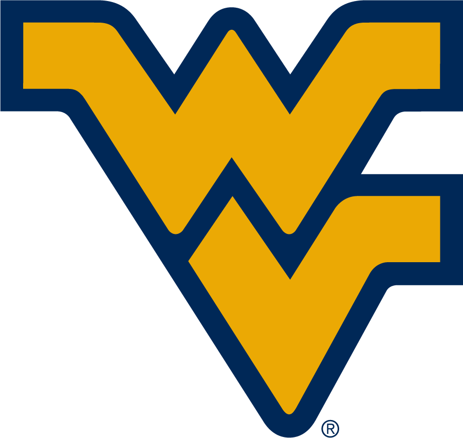 West Virginia Mountaineers Logo Alternate Logo (2016-Pres) - The Flying WV in blue with gold outline was demoted to Alternate in 2016 as the no-outlined blue WV became the primary, preferred version at that time. SportsLogos.Net