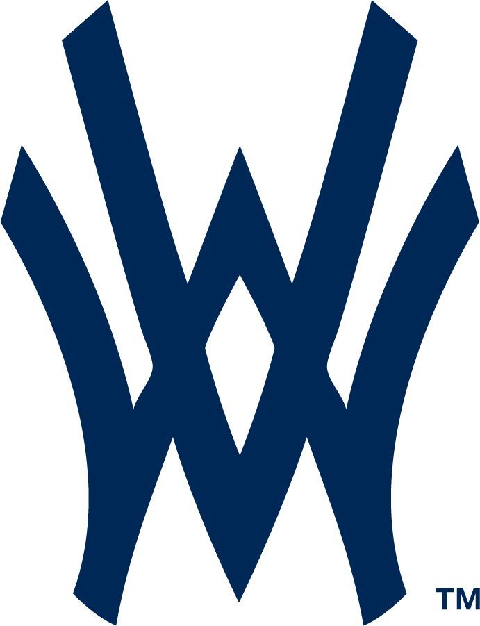 West Virginia Mountaineers Logo Cap Logo (1963-Pres) - Baseball WV mark. Seen as early as 1963 so far. Program began play in 1892. SportsLogos.Net