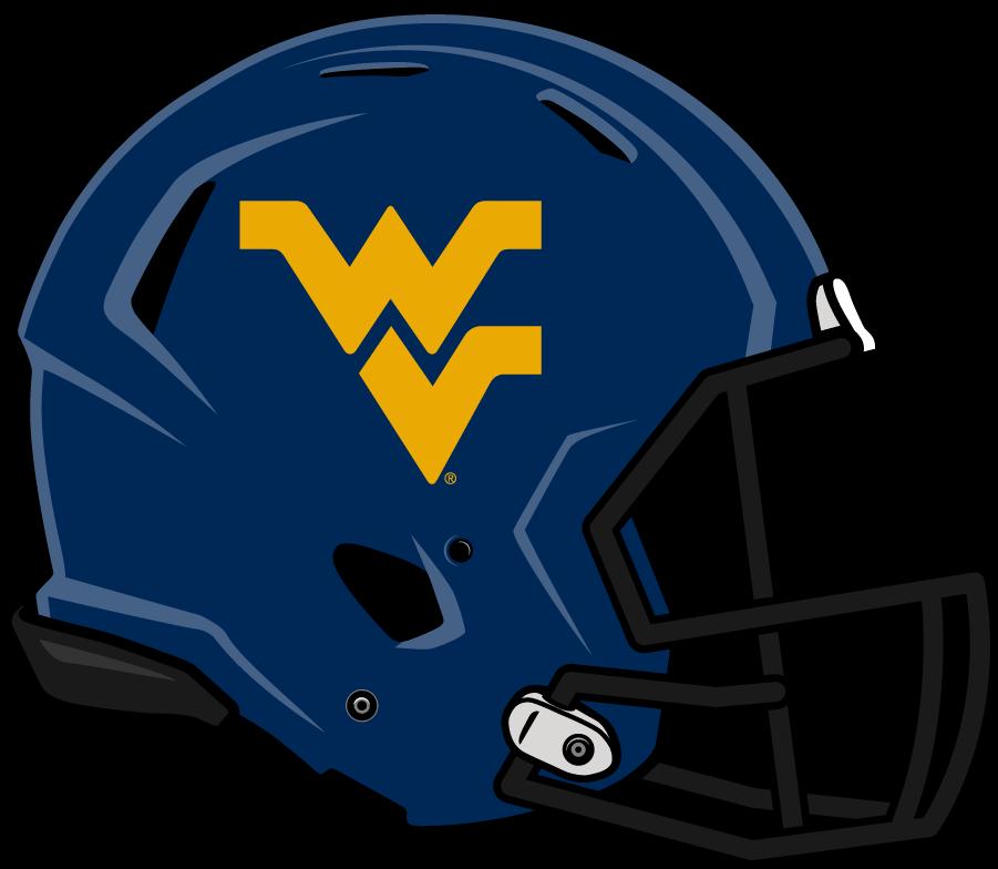 West Virginia Mountaineers Helmet Helmet (2014-Pres) - Updated helmet with blue shell and gold Flying WV. SportsLogos.Net