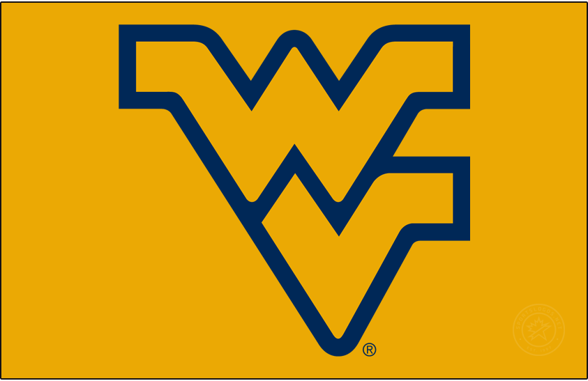 West Virginia Mountaineers Logo Primary Dark Logo (1980-2016) - Designed by sports artist John Martin, The Flying WV is the most widely used logo in West Virginia athletics. It debuted in 1980 as a part of a football uniform redesign by Coach Don Nehlen, and was adopted as the official logo for the university in 1983. SportsLogos.Net