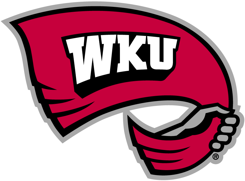 Western Kentucky Hilltoppers Logo Primary Logo (1999-Pres) - A hand waving a red towel with 'WKU' on it SportsLogos.Net