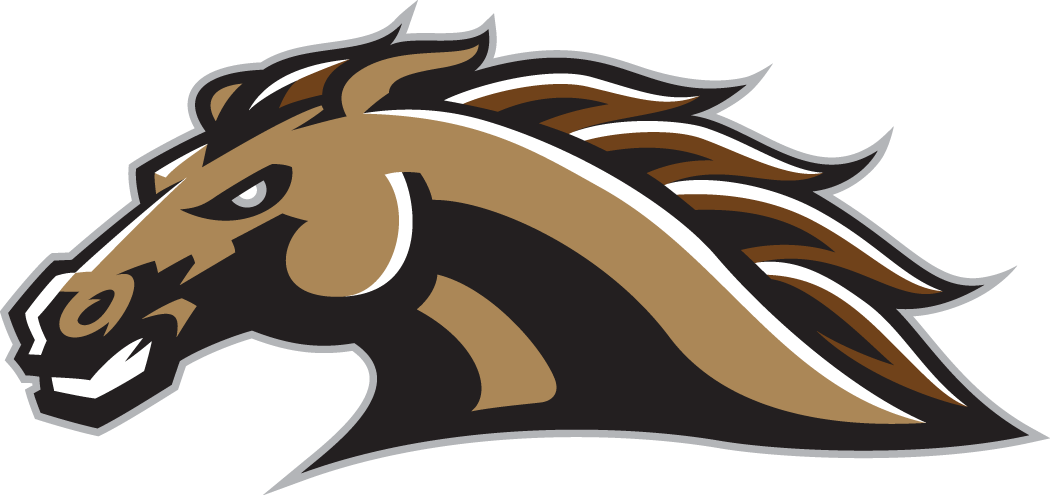 Western Michigan Broncos Logo Secondary Logo (1998-2015) - Brown and Gold horse's head SportsLogos.Net