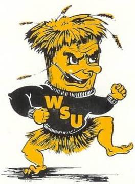 Wichita State Shockers Logo Primary Logo (1972-1991) - WSU mascot - WuShock SportsLogos.Net
