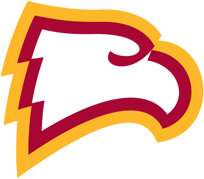 Winthrop Eagles Logo Primary Logo (1995-Pres) - White Eagle's head with red and yellow outline SportsLogos.Net