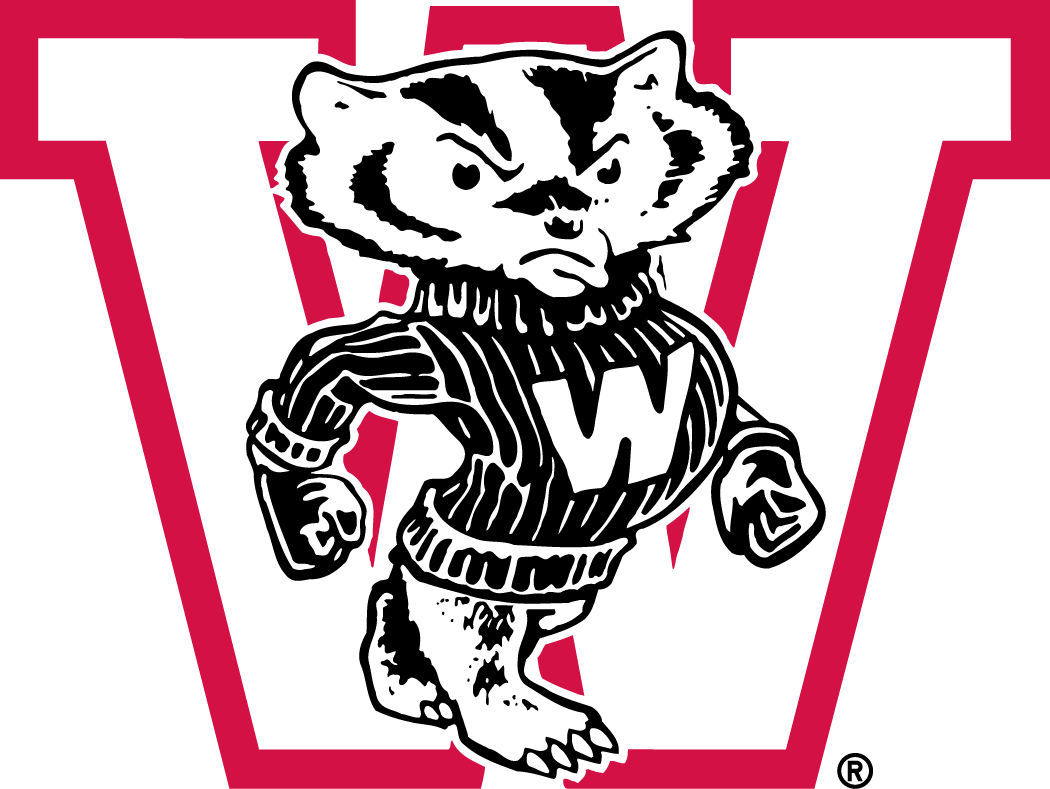 Wisconsin Badgers Logo Primary Logo (1948-1956) -  SportsLogos.Net