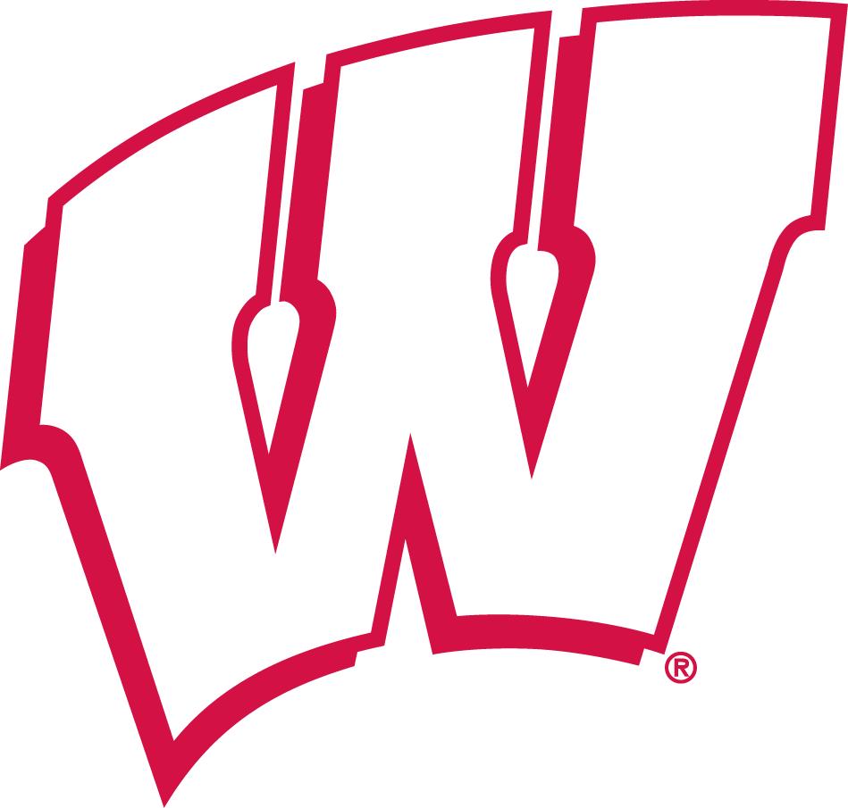 Wisconsin Badgers Logo Alternate Logo (1991-2017) - Single-color Motion W SportsLogos.Net