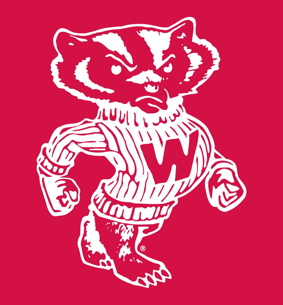 Wisconsin Badgers Logo Secondary Logo (1967-2003) -  SportsLogos.Net