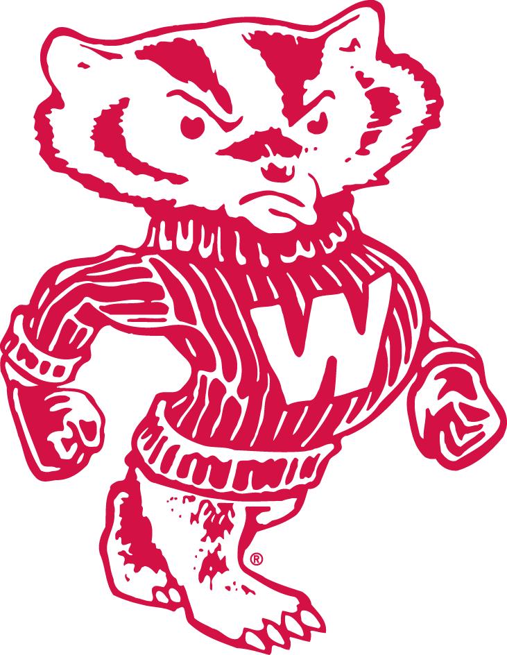 Wisconsin Badgers Logo Secondary Logo (1948-1969) -  SportsLogos.Net