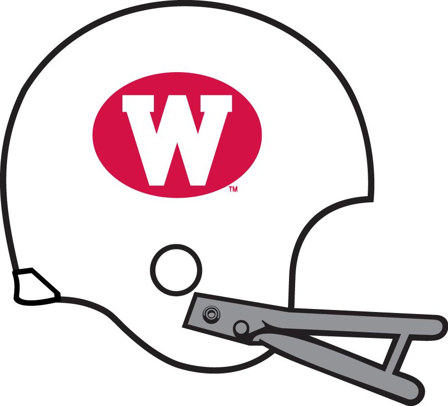 Wisconsin Badgers Helmet Helmet (1970-1971) -  SportsLogos.Net