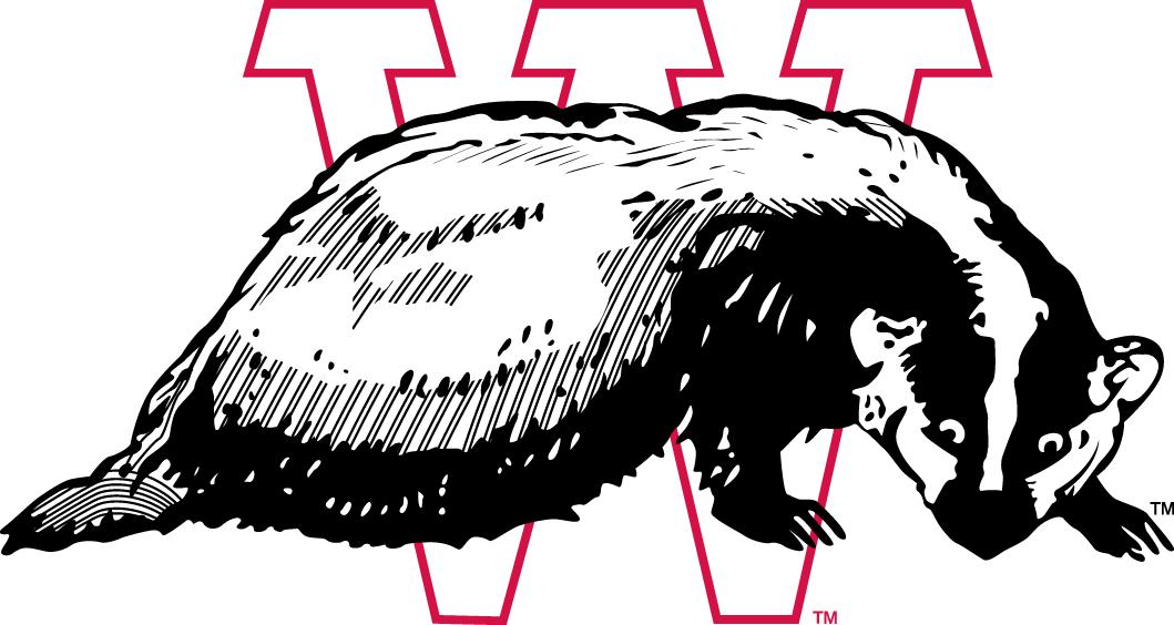 Wisconsin Badgers Logo Primary Logo (1936-1947) -  SportsLogos.Net