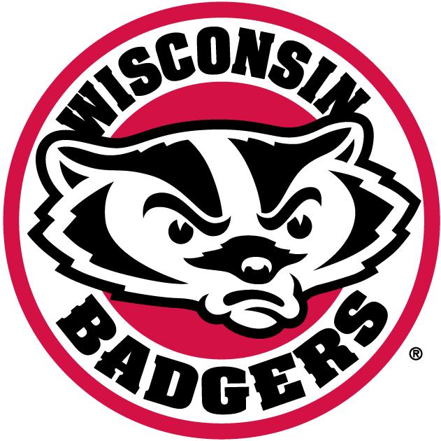 Wisconsin Badgers Logo Secondary Logo (2003-2017) - Badger head in a circle SportsLogos.Net