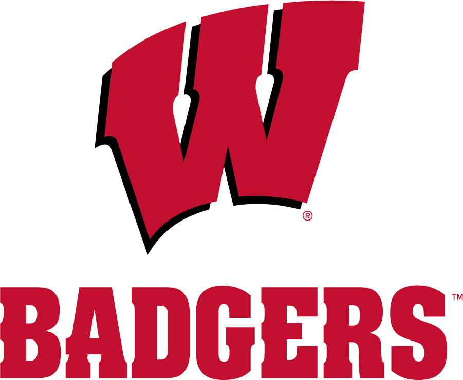 Wisconsin Badgers Logo Alternate Logo (2017-Pres) - In partnership with Under Armour, Wisconsin athletics refreshed their athletics identity in July 2017. Colors remained the same but a new typeface was adopted. SportsLogos.Net