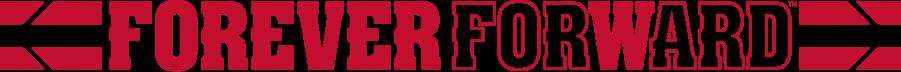 Wisconsin Badgers Logo Misc Logo (2017-Pres) - Horizontal Forever Forward theme with team stripes. SportsLogos.Net