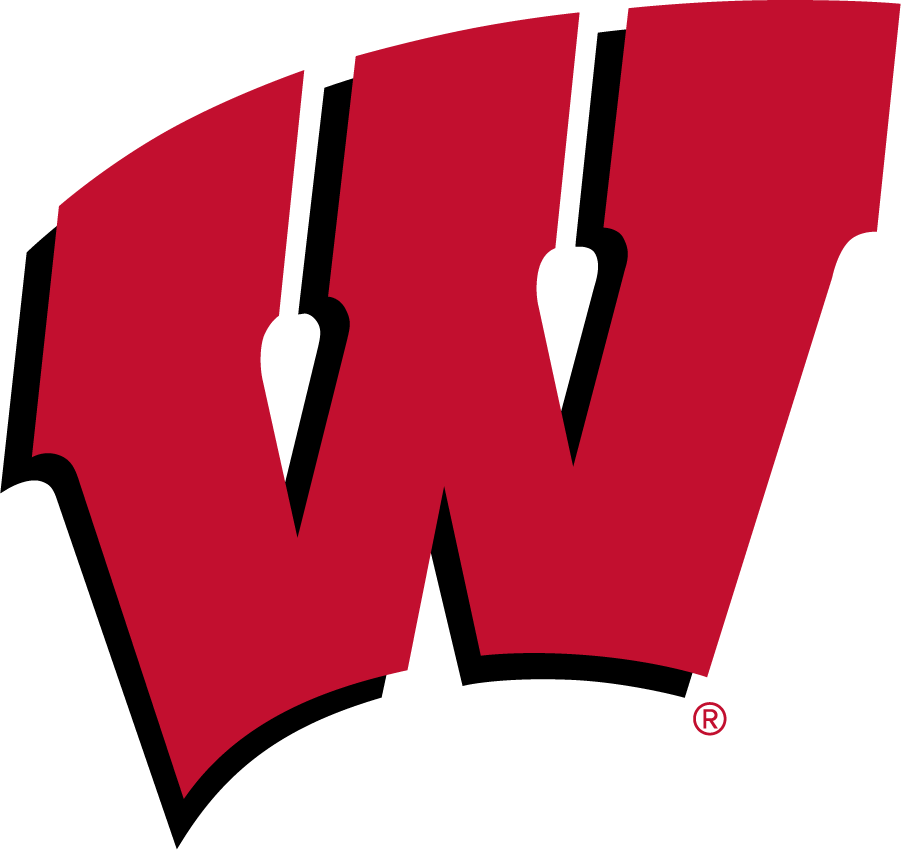Wisconsin Badgers Logo Primary Logo (2017-Pres) - In partnership with Under Armour, Wisconsin athletics refreshed their athletics identity in July 2017. Colors remained the same but the primary Motion W was modified very minimally.  SportsLogos.Net
