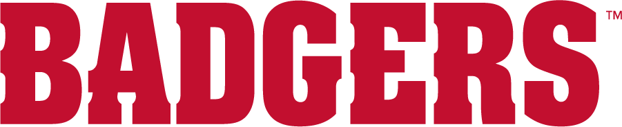 Wisconsin Badgers Logo Wordmark Logo (2017-Pres) - In partnership with Under Armour, Wisconsin athletics refreshed their athletics identity in July 2017. Colors remained the same but a new typeface was adopted. SportsLogos.Net