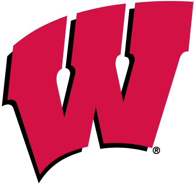 Wisconsin Badgers Logo Primary Logo (1991-Pres) - Red W with black shadow SportsLogos.Net