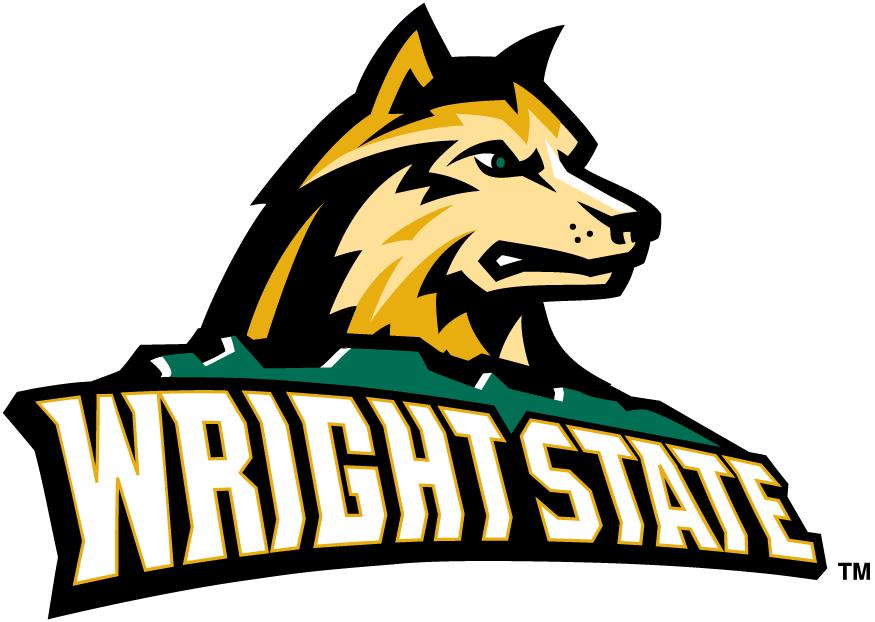 Wright State Raiders Logo Primary Logo (2001-Pres) - Dog head over script SportsLogos.Net